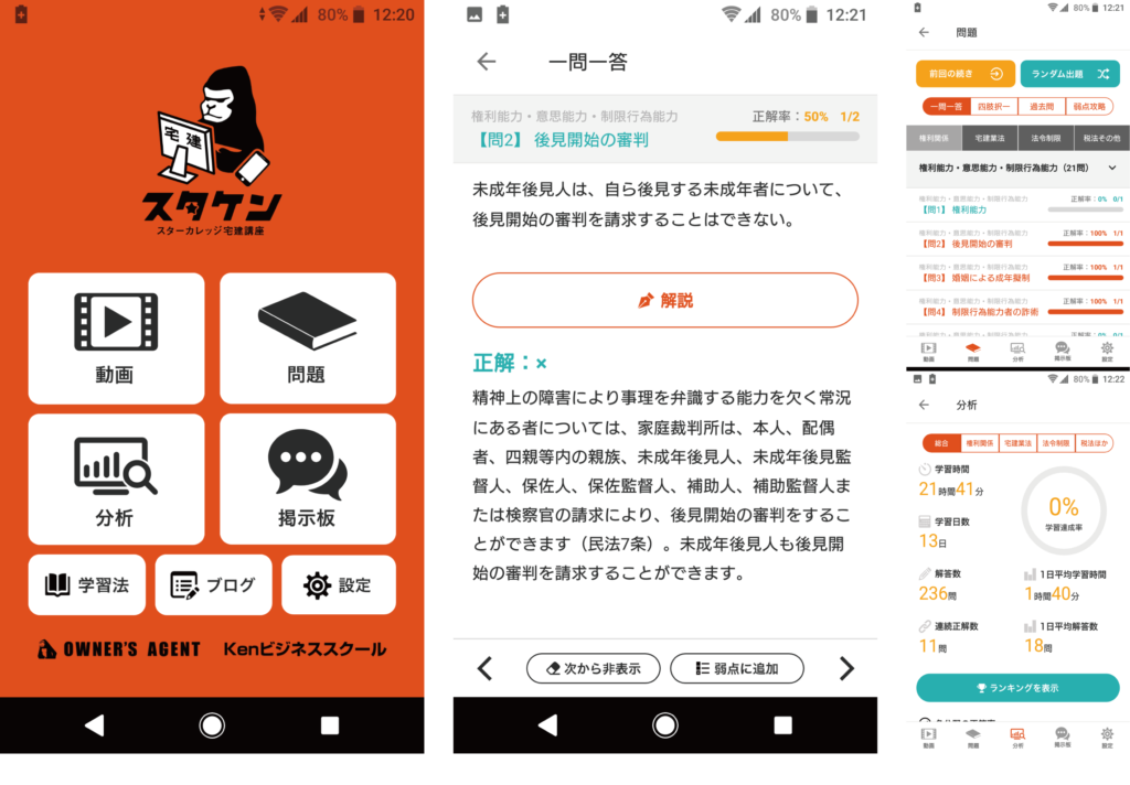 宅建無料アプリスタケンの紹介