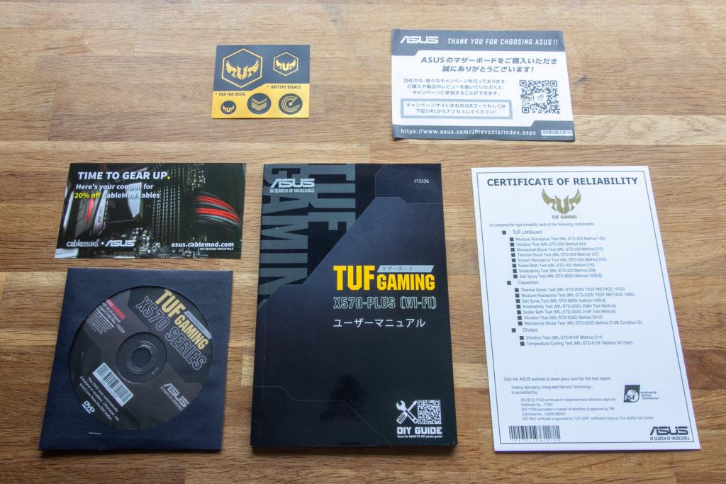 ASUS TUF GAMING X570-PLUS (WI-FI) 同梱物